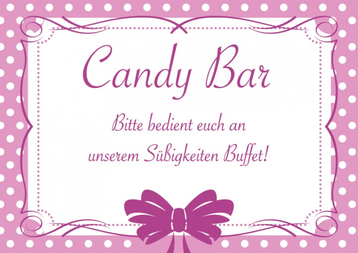 candybar schild rosa make my day der taufshop. Black Bedroom Furniture Sets. Home Design Ideas
