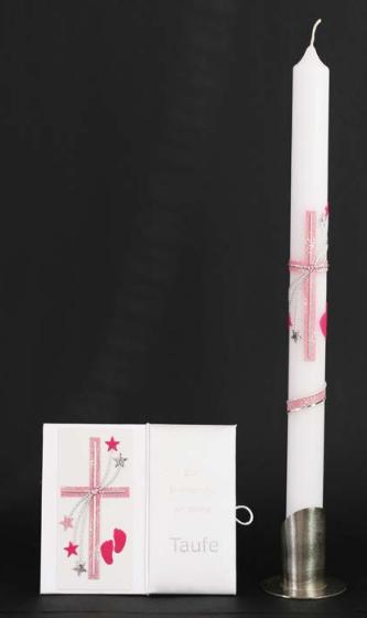Tauf-Set Füßchen Rosa