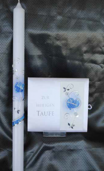 Tauf-Set Herz Blau