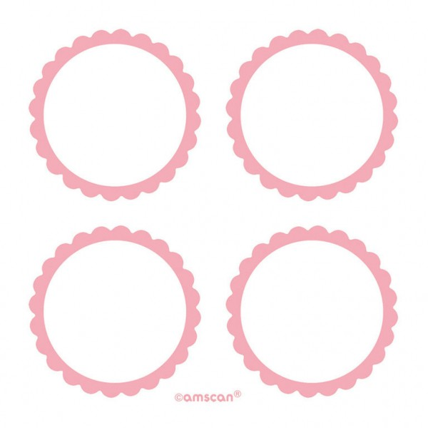 Candyetiketten Rosa
