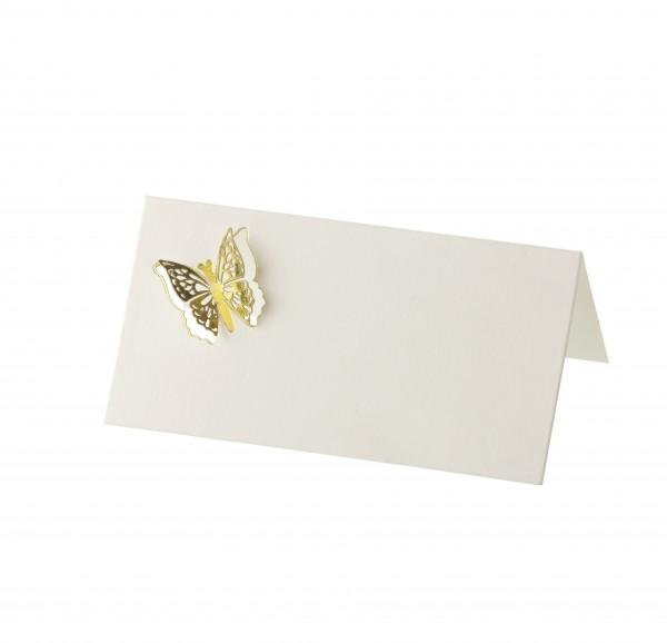 Tischkarte Papillon 3D