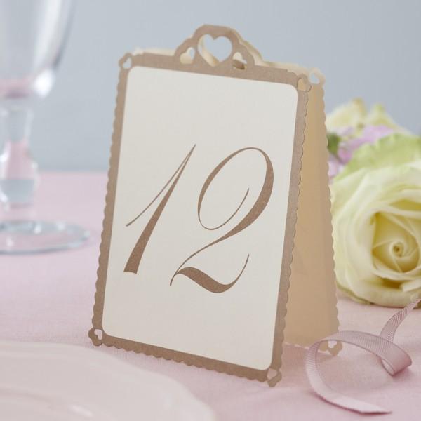 Tischnummer Herz