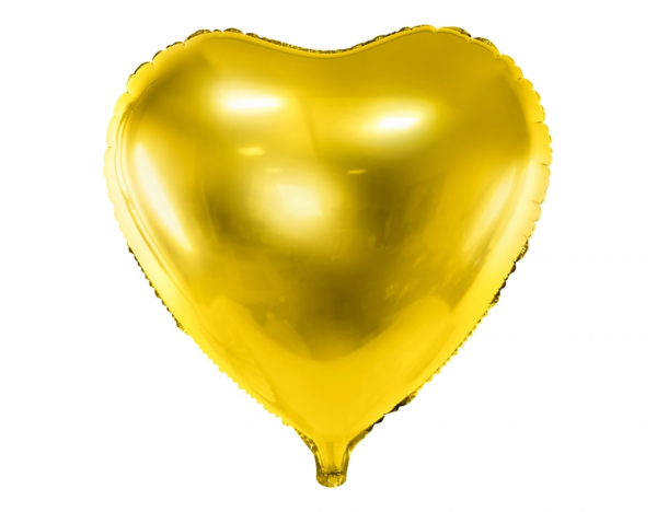 Folienballon Herz Gold