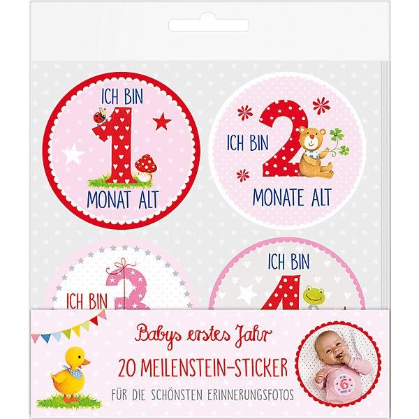 Meilenstein-Sticker Babygirl