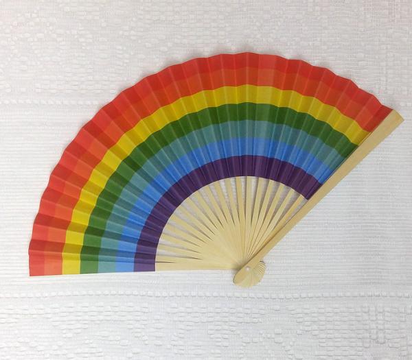 Premium Papierfächer Regenbogen