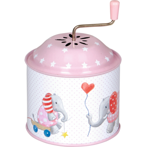 Spieluhr Elefant Rosa