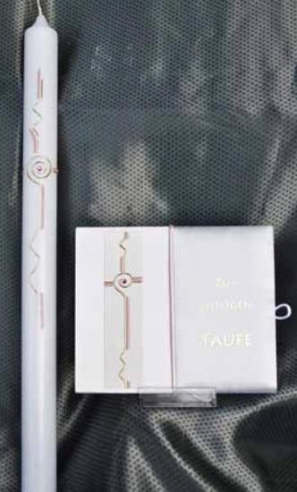 Tauf-Set Ornament Rosa