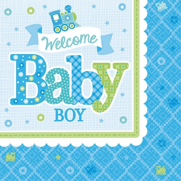 Servietten Welcome Babyboy
