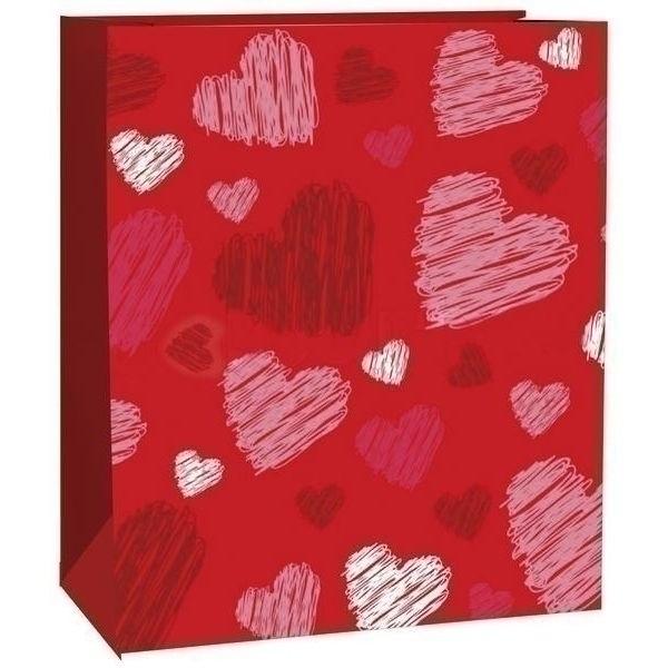 Geschenksackerl Rote Herzen