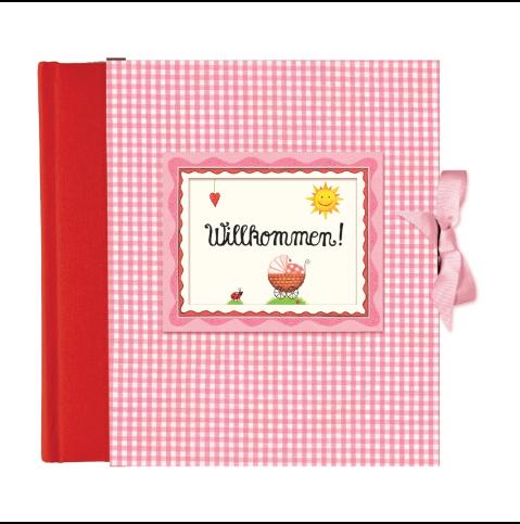 Gästebuch Willkommen Rosa