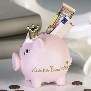 Sparschwein Prinzessin mit Krönchen