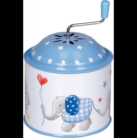 Spieluhr Elefant Blau