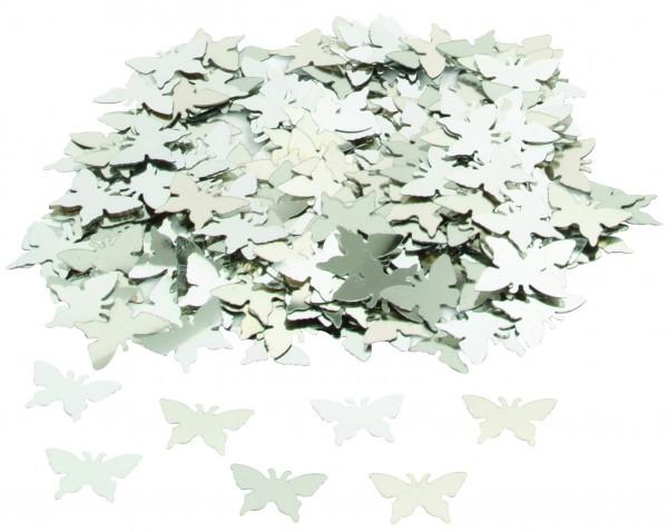 Streuteile Schmetterling Silber