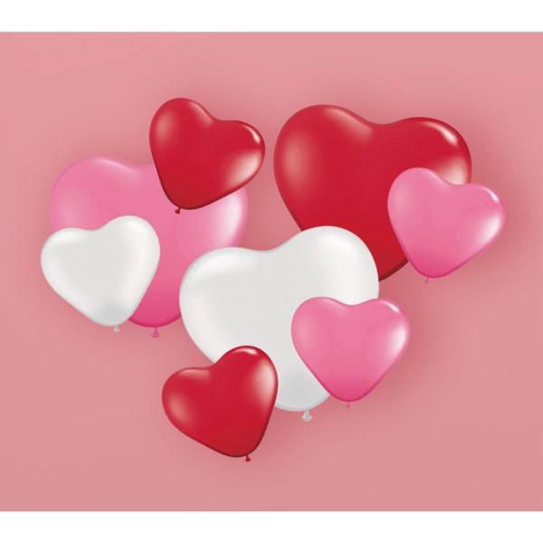 Luftballon-Set Herzen