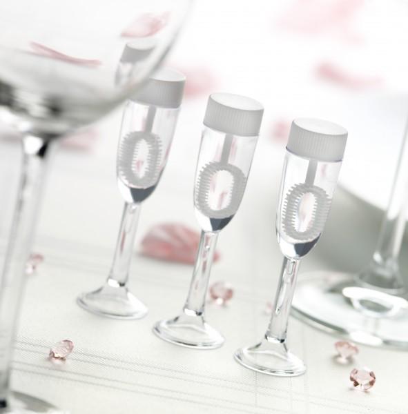 Seifenblasen Sektglas