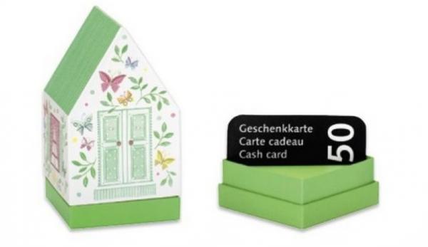 Geldgeschenkbox Häuschen