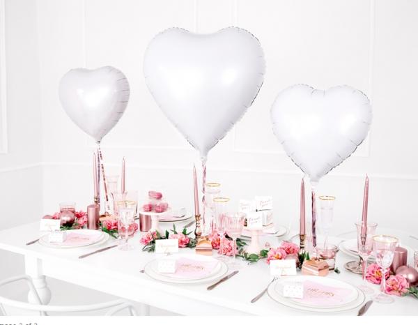 Folienballon Herz Weiß