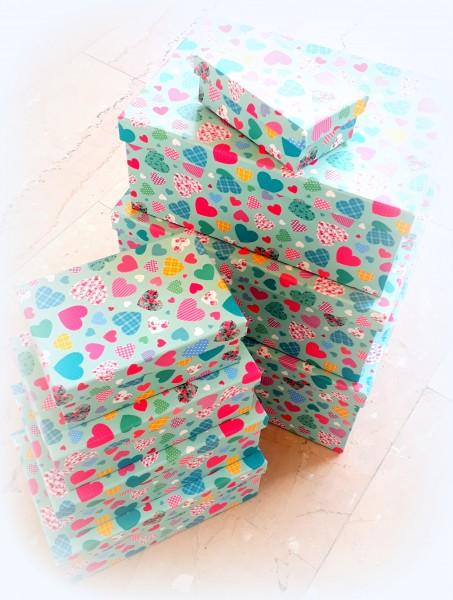 Geschenkbox Herzen