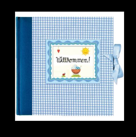 Gästebuch Willkommen Blau
