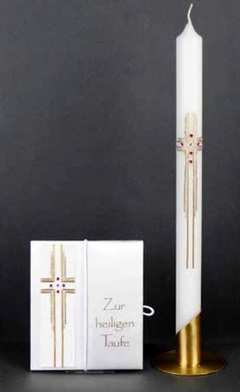Tauf-Set Kreuz Rosa