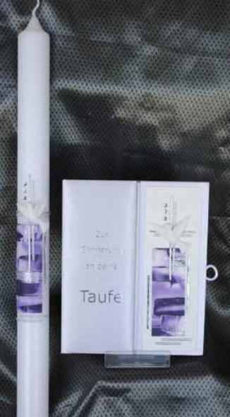 Tauf-Set Poesie Violett