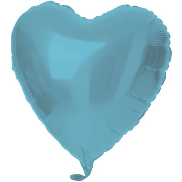 Folienballon Herz Blau