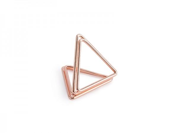 Tischkartenhalter Dreieck Rosé