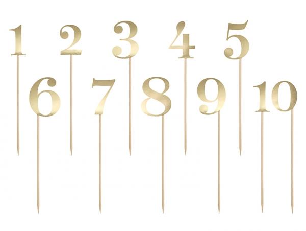 Tischnummern Gold