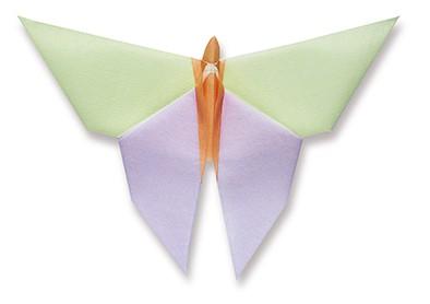 Origamiservietten Schmetterling