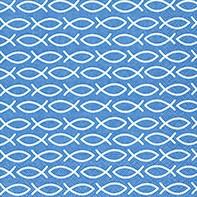 Servietten Fischchen Blau