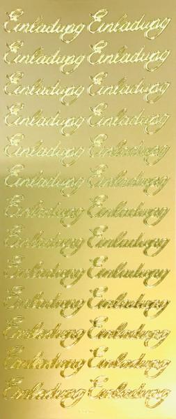 Sticker Einladung Elegant