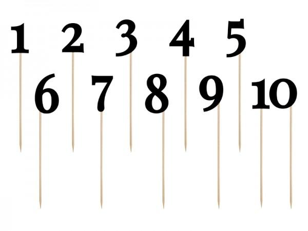 Tischnummern Schwarz
