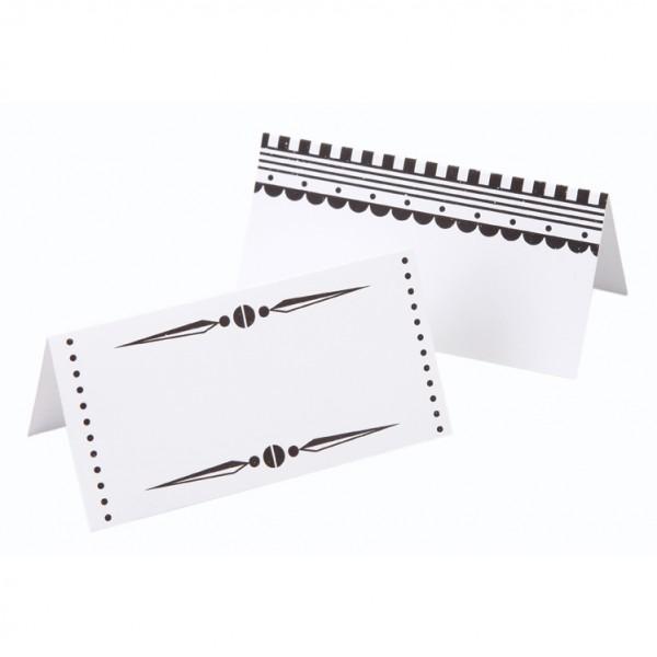 Tischkarte Schwarz/Weiß